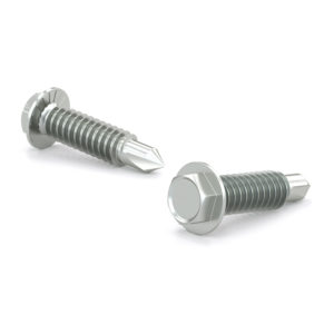 Zinc Plated Metal screw, Hex Washer Head With Serration , Machine Thread, Self-Drilling Point
