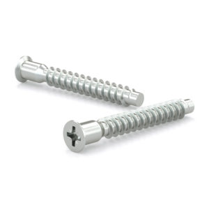 Wood screw, Confirmat head, Coarse thread, Dogpoint