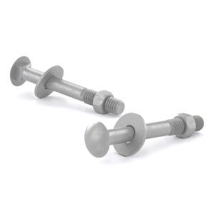Carriage Bolt with Nut and Washer, Pan Head - Hot-Dip Galvanized Steel