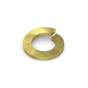 Spring Lock Washer- 8 Grade- Yellow Zinc